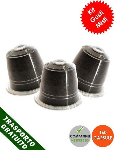 Kit degustazione Nespresso Misto 160 CAPSULE Compatibili