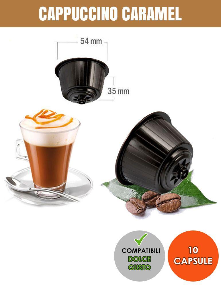 SerCoffee 10 CAPSULE Compatibili DOLCE GUSTO Cappuccino Caramel