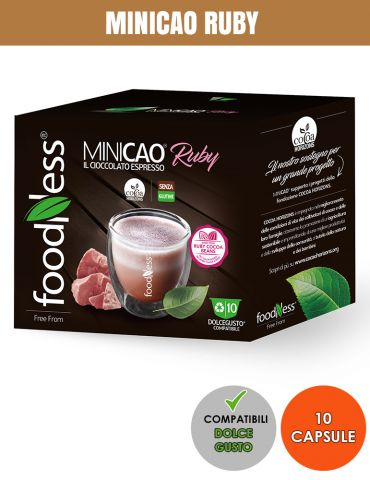 FOODNESS 10 Capsule Compatibili DOLCE GUSTO MINICAO RUBY