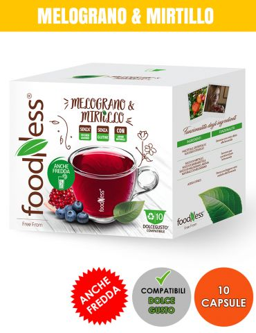 FOODNESS 10 Capsule Compatibili DOLCE GUSTO MELOGRANO & MIRTILLO