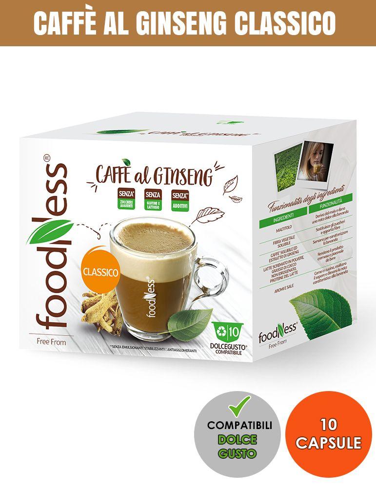 FOODNESS 10 Capsule Compatibili DOLCE GUSTO CAFFÈ AL GINSENG CLASSICO