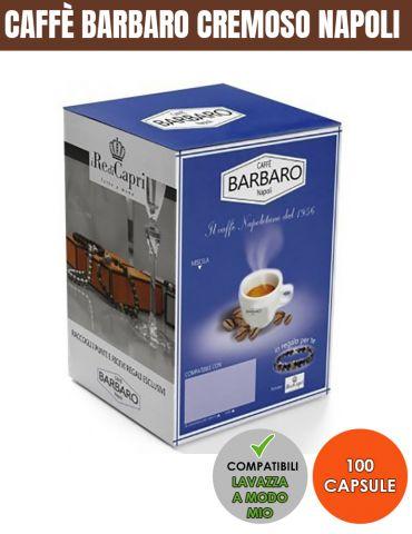 Caffè Barbaro 100 Capsule Compatibili Cremoso Napoli A MODO MIO