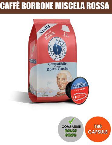 Caffè Borbone 180 Capsule Miscela ROSSA Compatibili Dolce Gusto